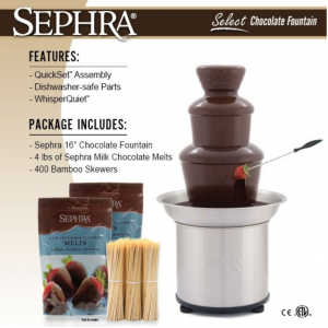chocolate fountain for home sephra