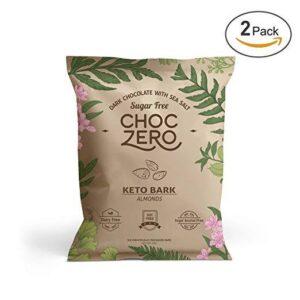 ChocZero Dark Chocolate Almond Keto Bark