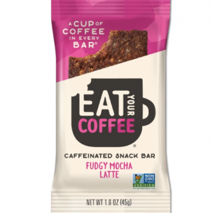 Eat Your Coffee Fudgy Mocha Latte Energy Snack Bar