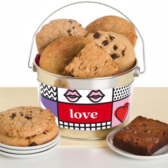 Gluten-free dairy-free nut-free cookie brownie love bucket