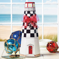 Lighthouse Filled With Gluten-Free Almond Buttercrunch with Chocolate and Pecans