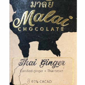 Malai Thai Ginger 65 Vegan Chocolate Bar