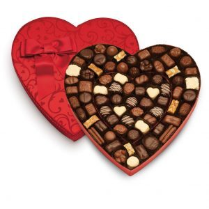 Vegan and gluten-free valentine's chocolates
