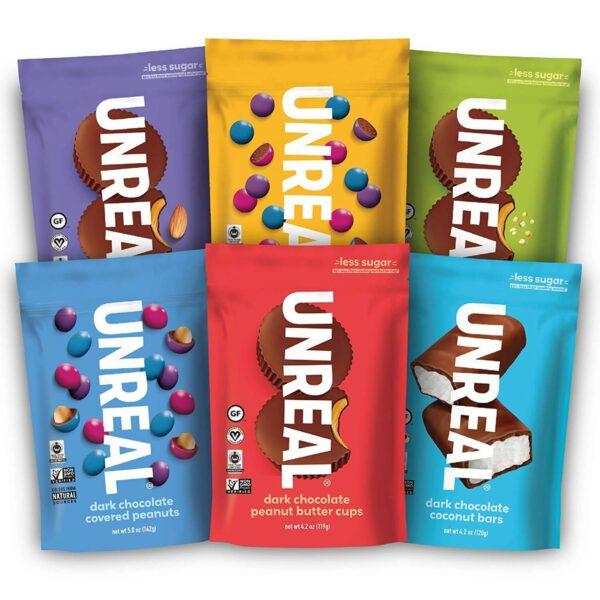 unreal vegan chocolate variety six pack