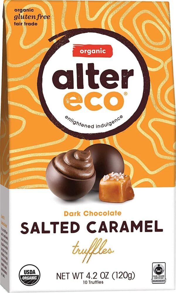 alter eco dark chocolate salted caramel truffles gluten free