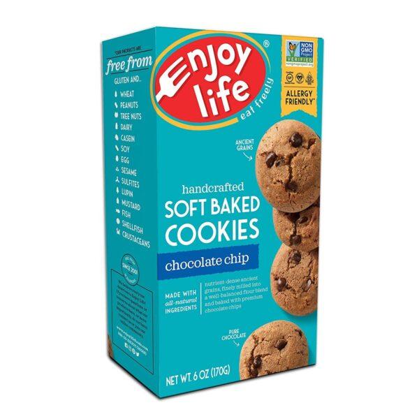 gluten free vegan soft baked chocolate chip cookies enjoy life