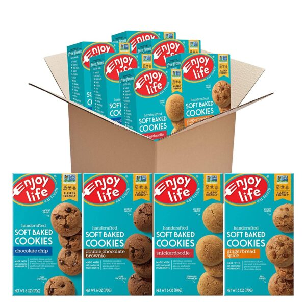 vegan gluten free soft baked cookies variety pack enjoy life