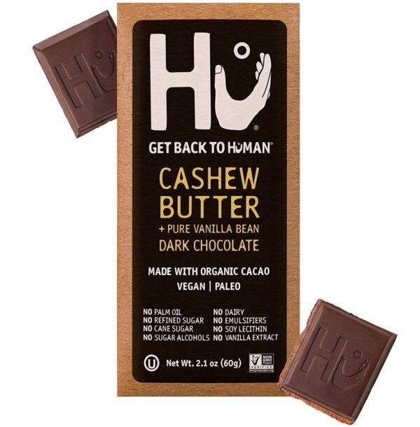 vegan gluten free organic hu cashew butter dark chocolate bar