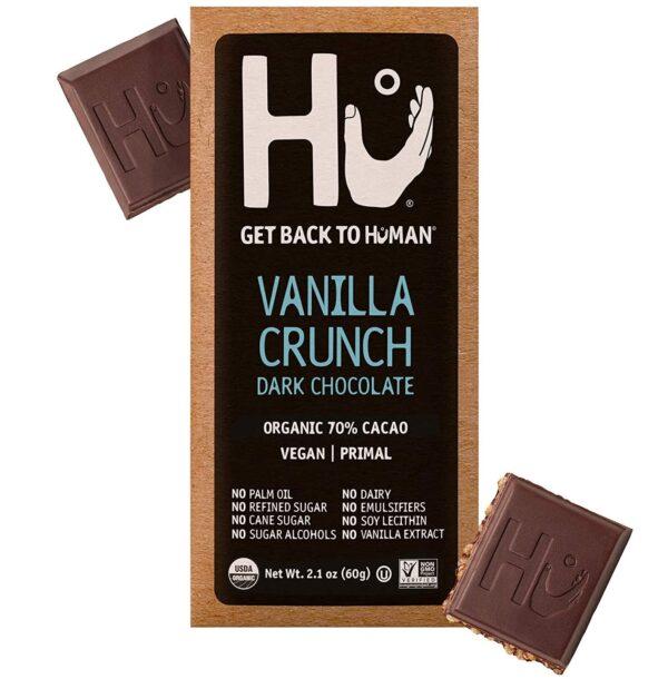 vegan gluten free vanilla crunch dark chocolate bar hu