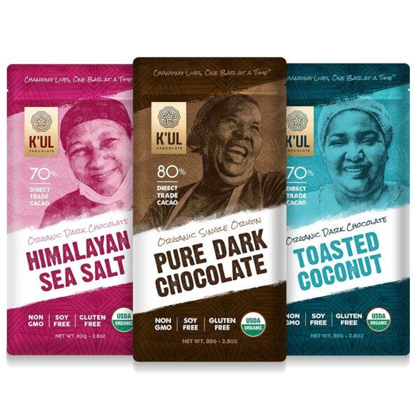 k'ul chocolate bar 3 pack vegan gluten free