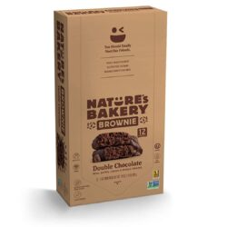 vegan brownie double chocolate natures bakery