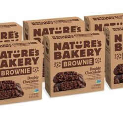 vegan double chocolate brownie 6 pack natures bakery