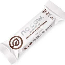 no cow chocolate fudge brownie protein bar vegan gluten free