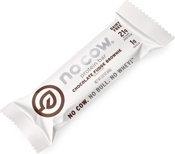 no cow chocolate fudge brownie protein bar vegan gluten free
