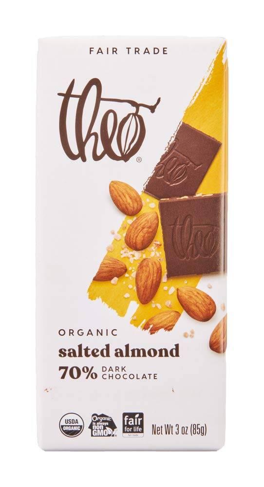 vegan gluten free salted dark chocolate bar theo